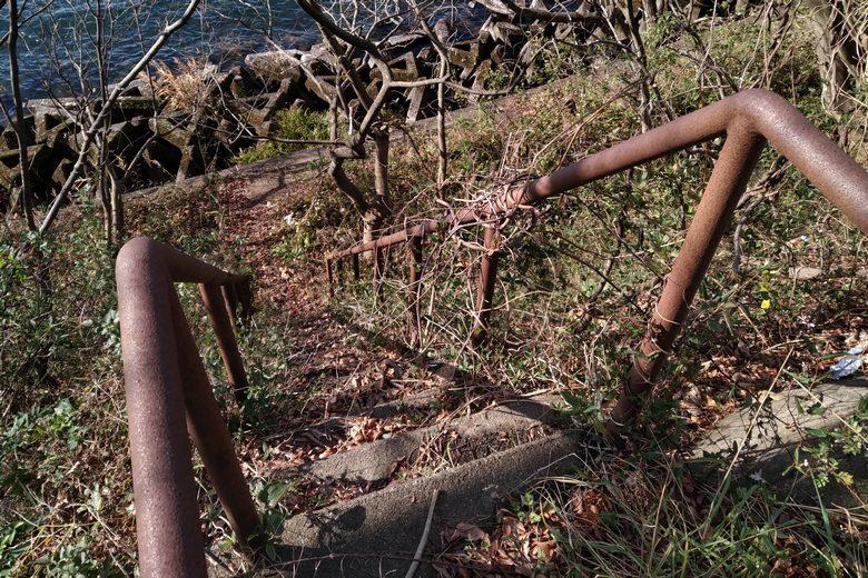飯浦のブロック帯にある梯子