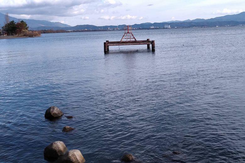 姉川人工河川の取水塔