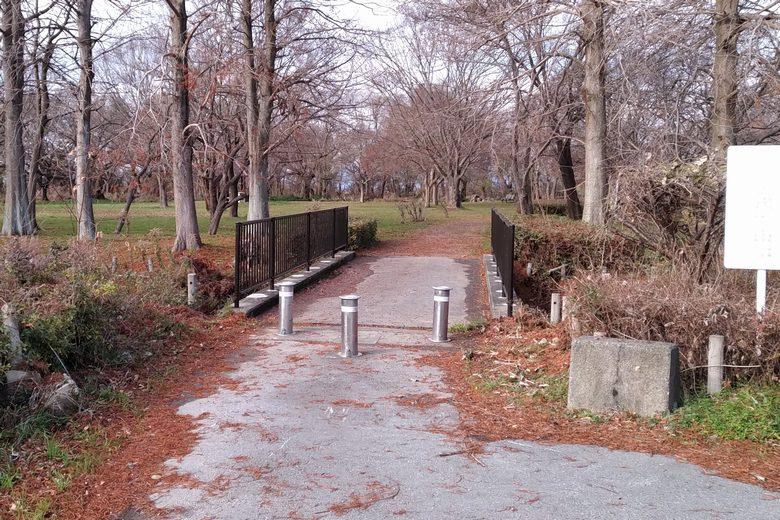 姉川河口の隣にある公園
