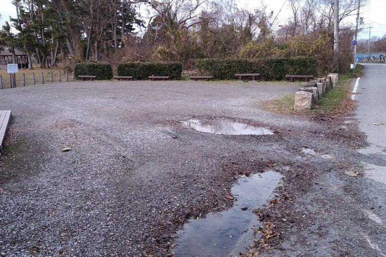 姉川河口の駐車場1