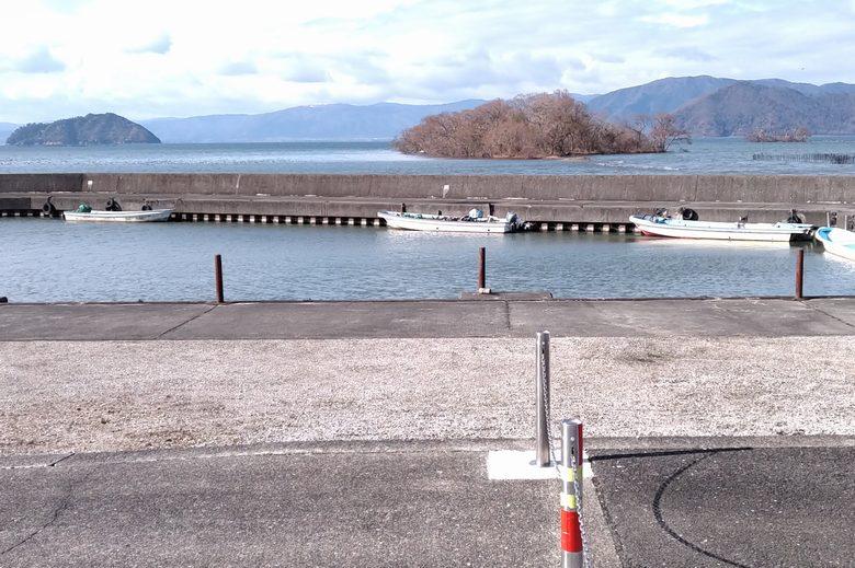 海老江漁港の船溜まり