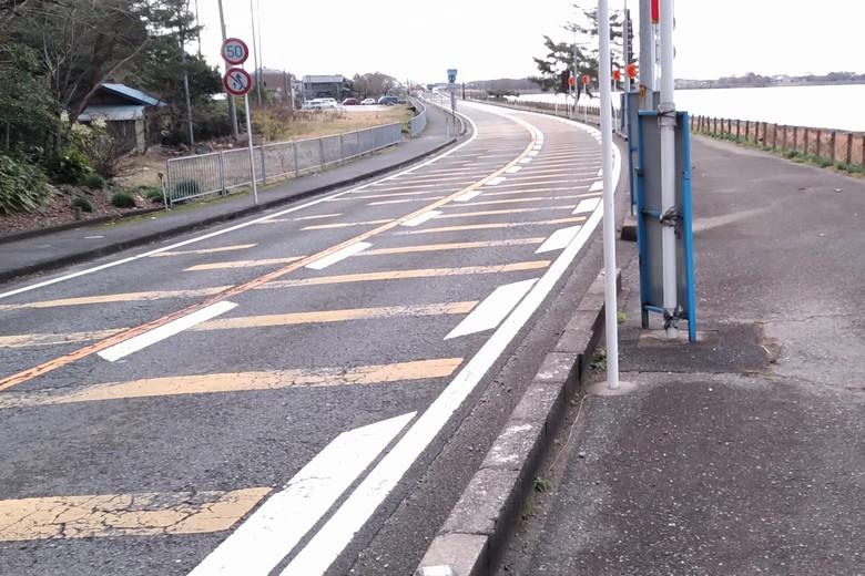 片山を通る県道44号線