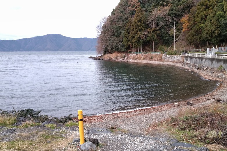 琵琶湖湖北のロックエリアが始まる片山のポイント