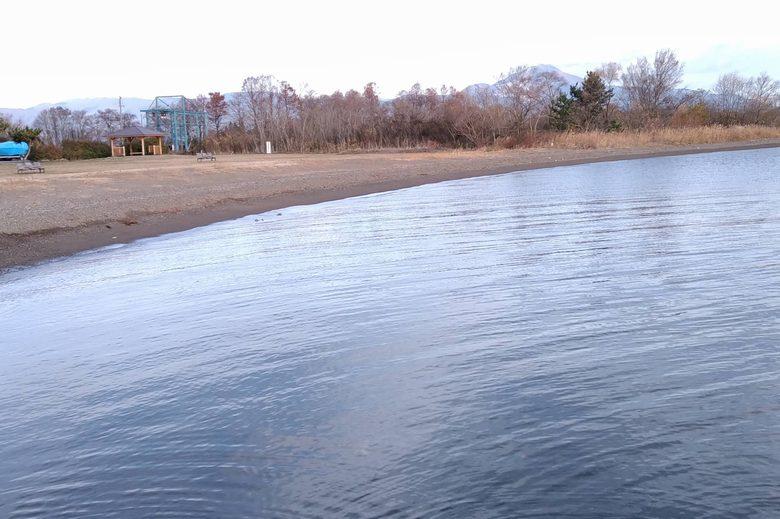 南浜水泳場の砂浜