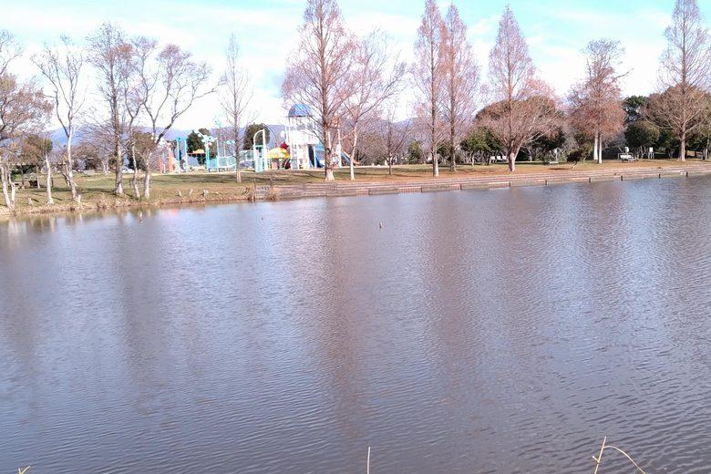 南浦内湖の北側にある公園