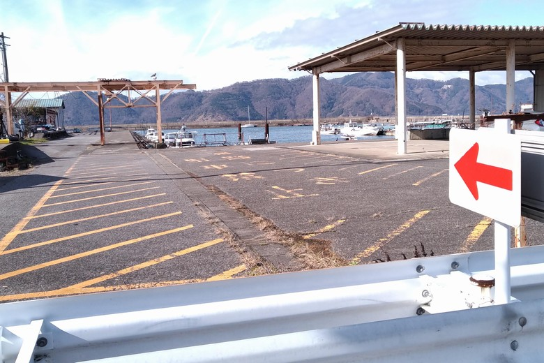尾上漁港の船溜まり