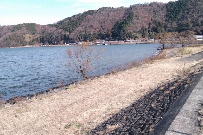 尾上から片山にかけての琵琶湖護岸