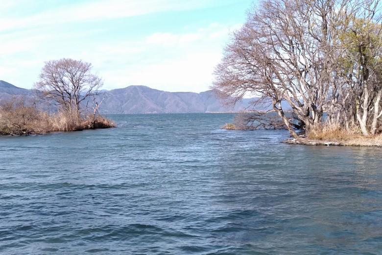 余呉川の河口の出口