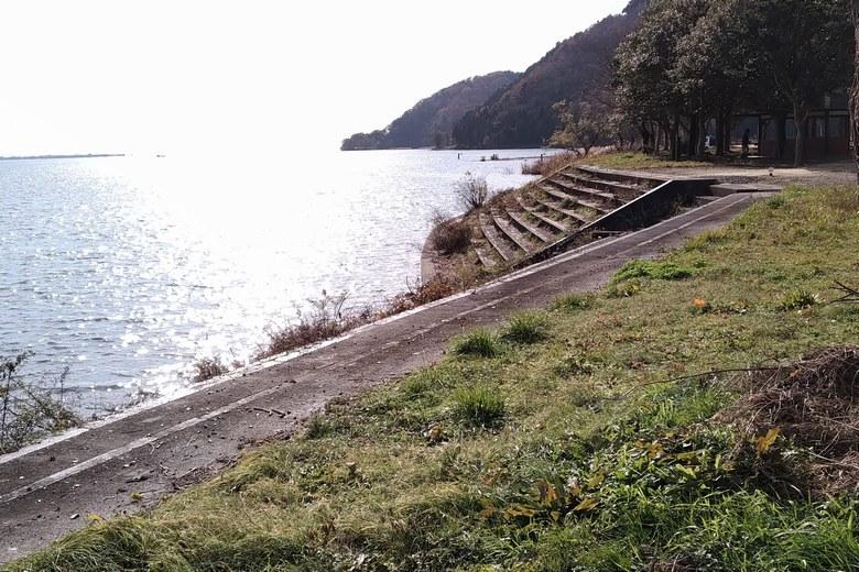 大坪川の護岸されているエリア