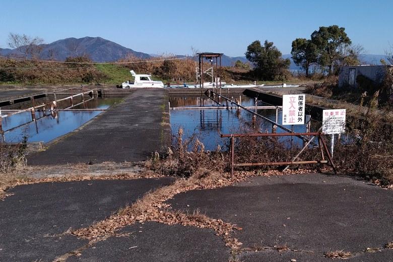 浜分漁港の養殖場