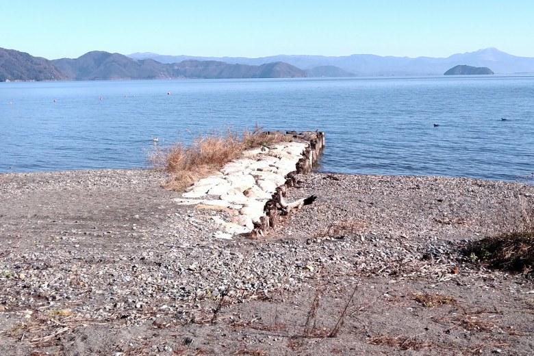 今津浜の南の突堤
