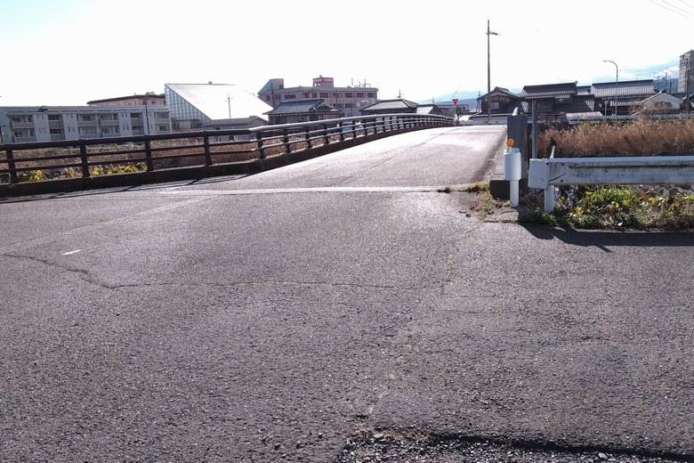 石田川河口の周辺の道路と浜分橋