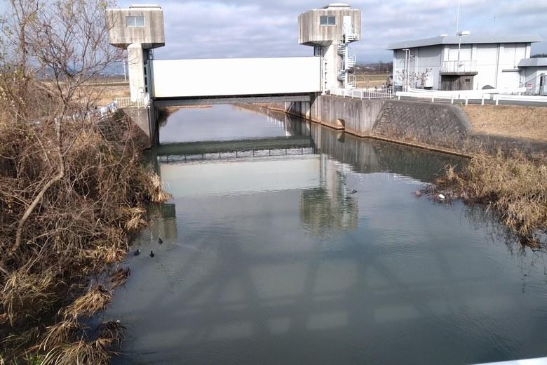 金丸川の水門