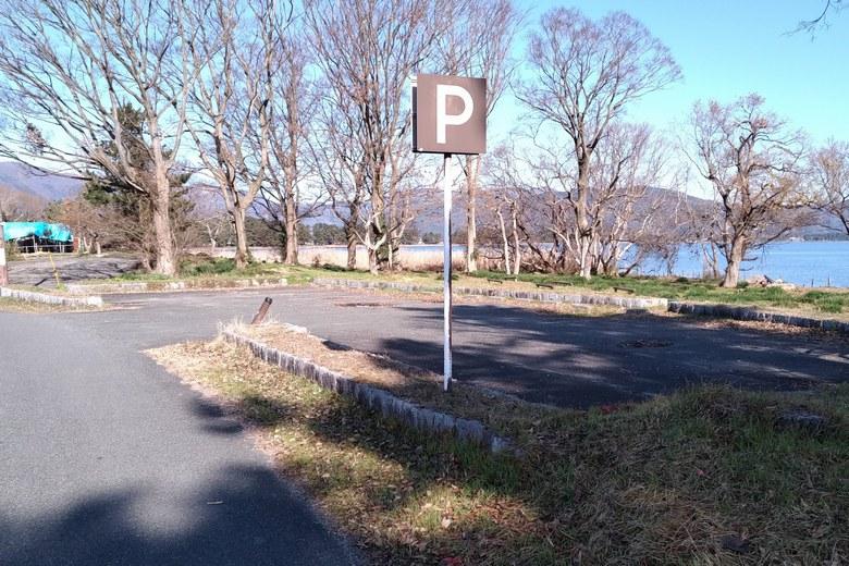 桂浜の駐車場