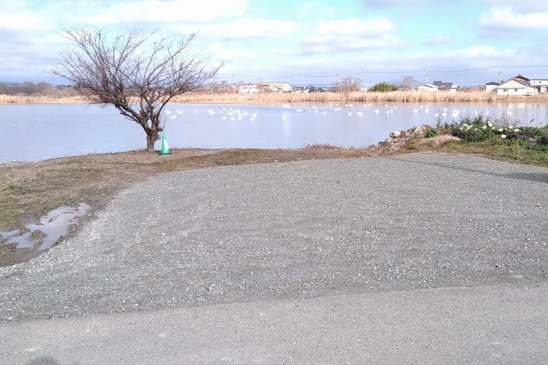松ノ木内湖の有料駐車場