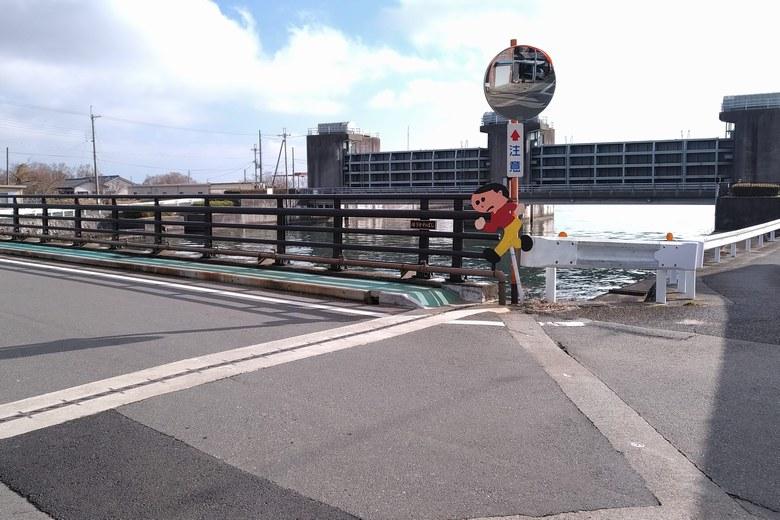 松ノ木内湖の水門