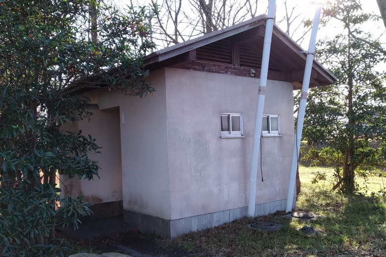 外ヶ浜に設置されているトイレ