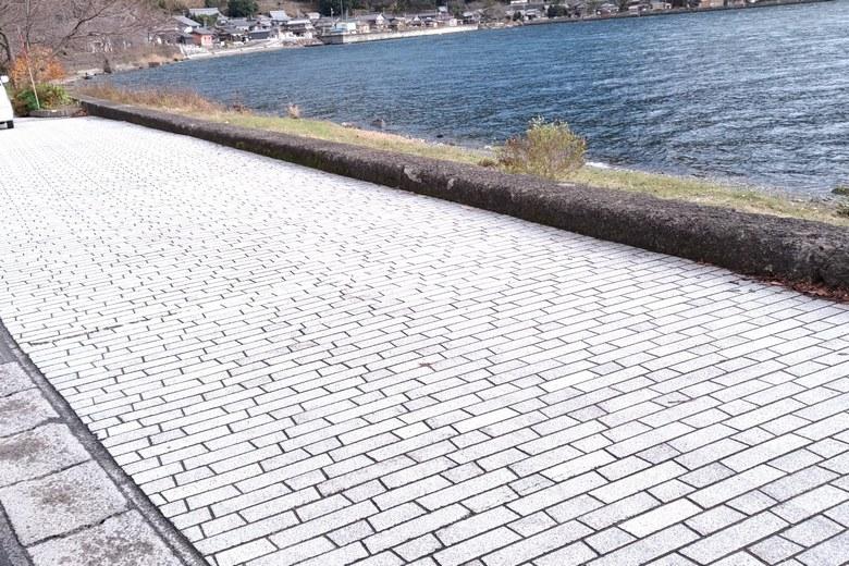 菅浦の駐車場
