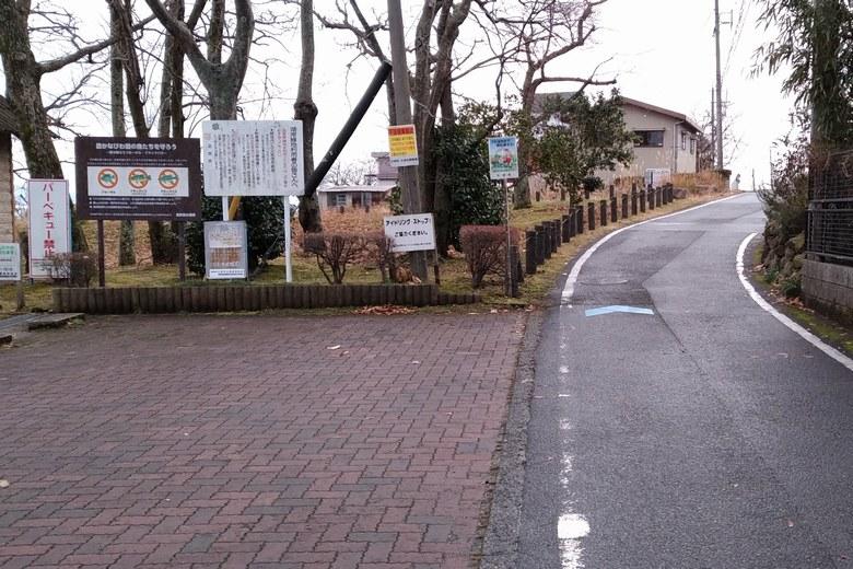木戸川河口の前の道路