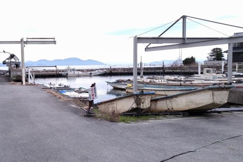北小松漁港の様子