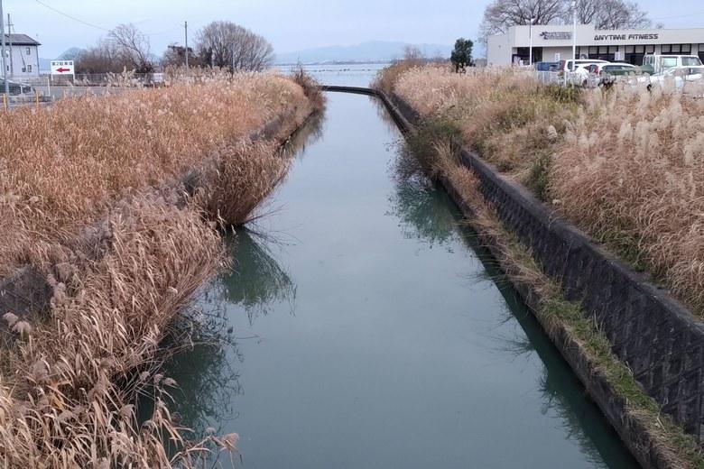 御呂戸川河口の様子