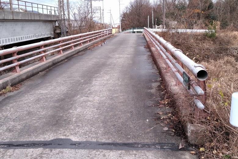 河口の近くにある大谷川浜橋