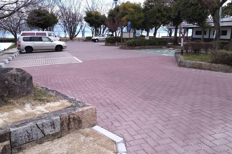 坂本城址公園の駐車場