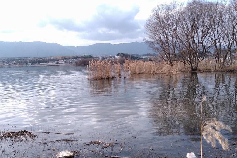 天神川河口と山下湾