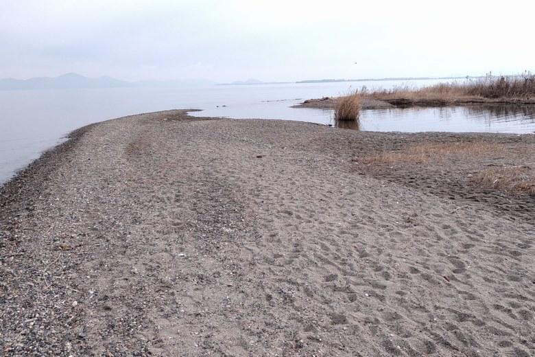 和邇川河口と砂浜