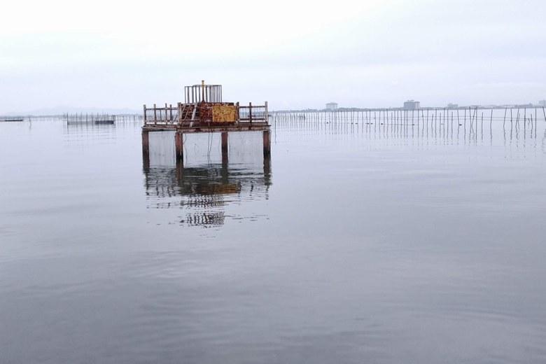 和邇川の南にある取水塔