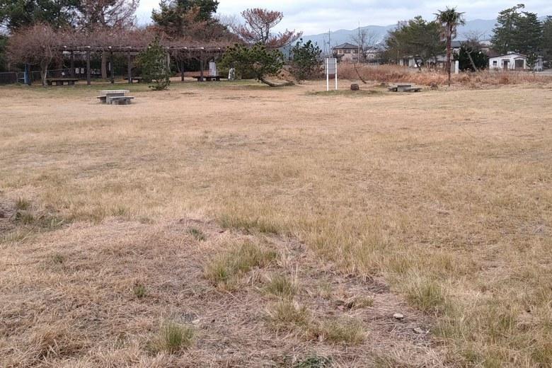 和邇川の南の公園