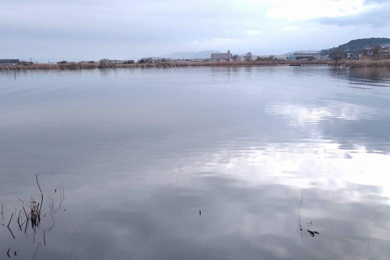 防波堤から見る山ノ下湾