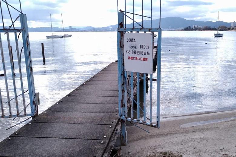 四ツ谷のレストラン前の桟橋