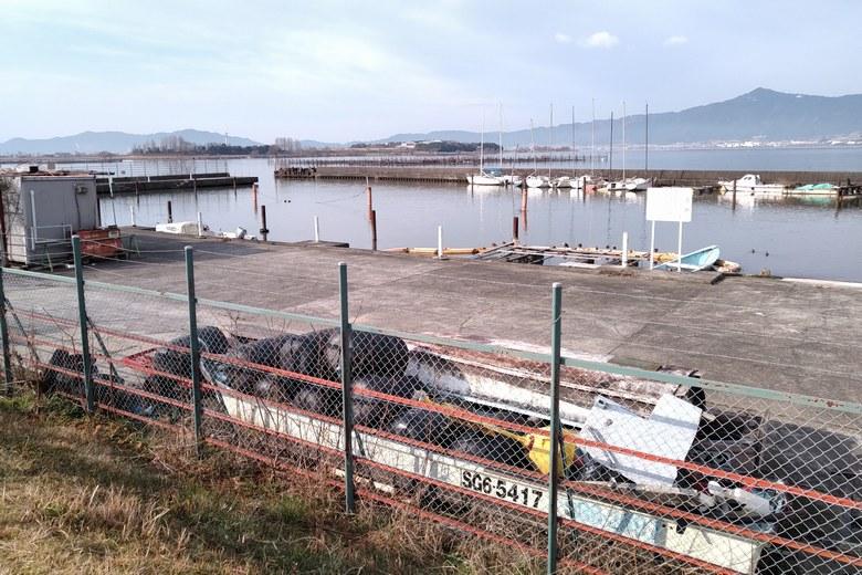 赤野井漁港の様子