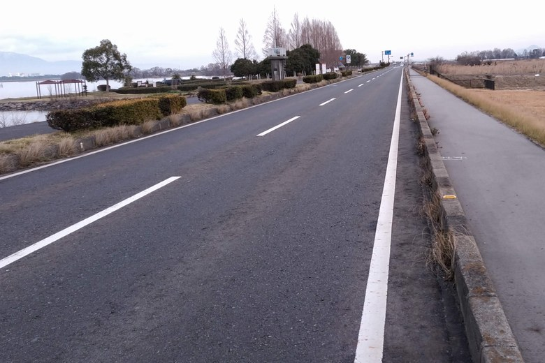赤野井1の横を通る県道559号線