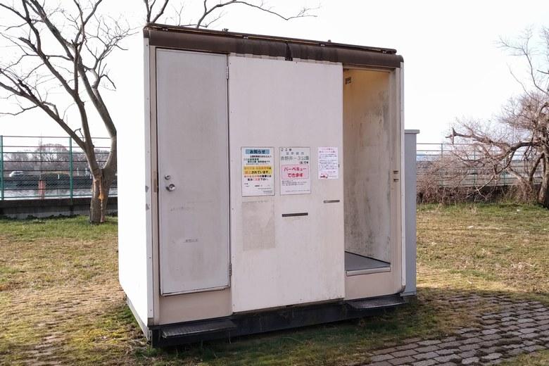 赤野井3北にある簡易トイレ