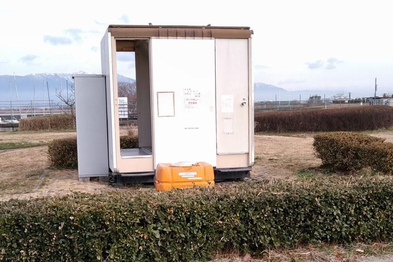 赤野井3南の簡易トイレ