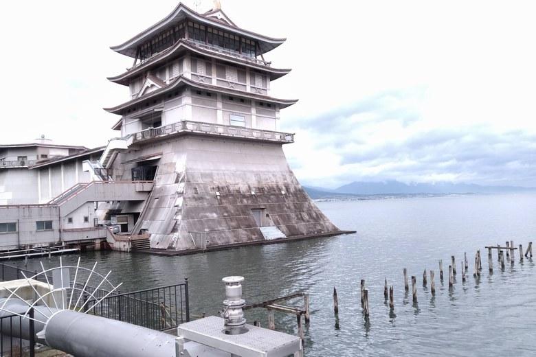 琵琶湖文化館の東側のエリア