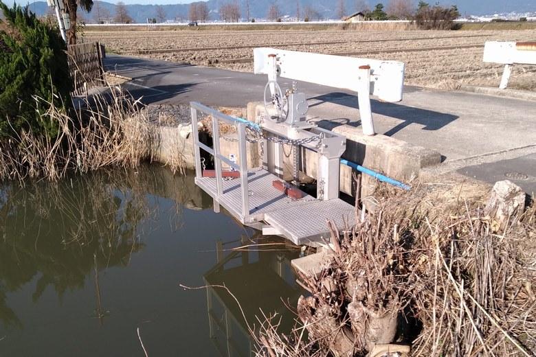 水路に設置されているゲート