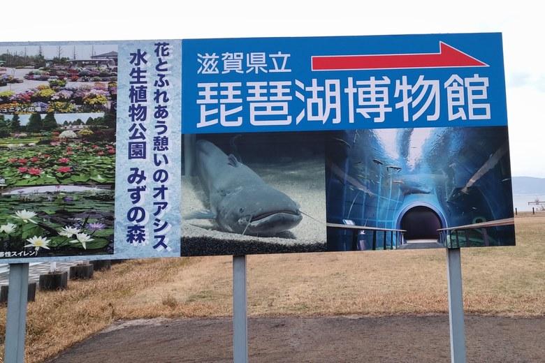 滋賀県立琵琶湖博物館の看板