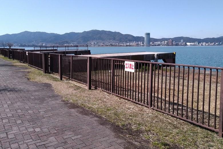 帰帆島の北西にある、うみのこ専用の桟橋
