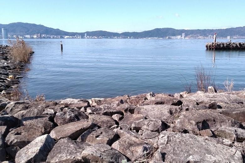 北山田漁港のミオ筋を狙えるポイント