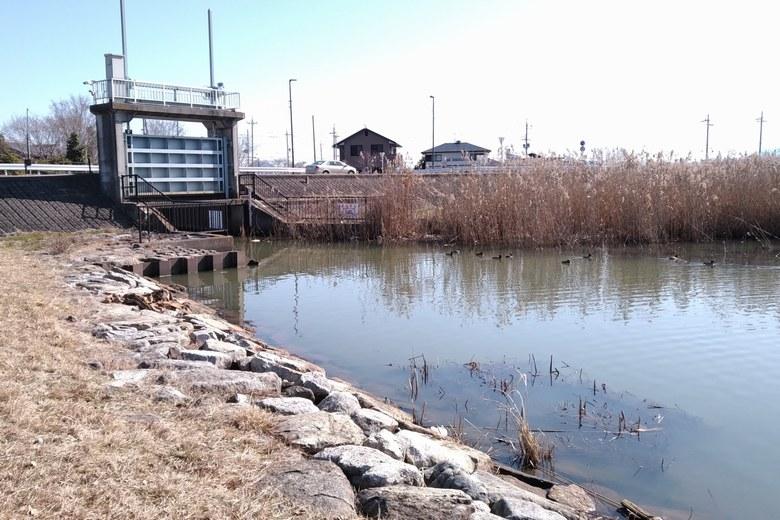 北山田1の南にある水門