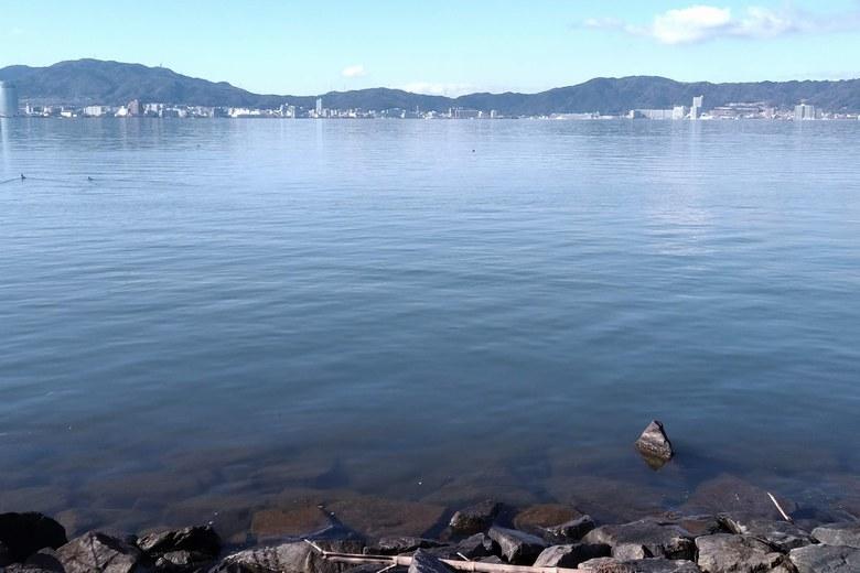 水深2.5mラインのブレイクが岸近くに来ている北山田2