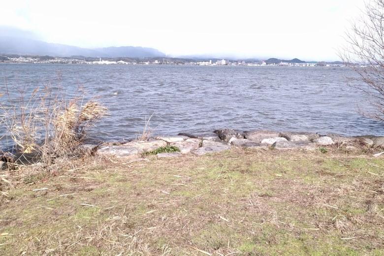 湖岸緑地木浜1の北東の角エリア