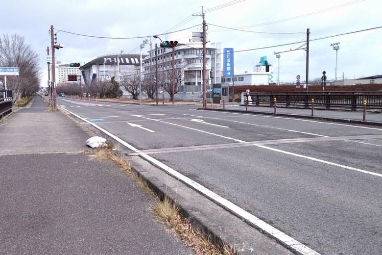木浜の湖岸沿いを通る県道559号線