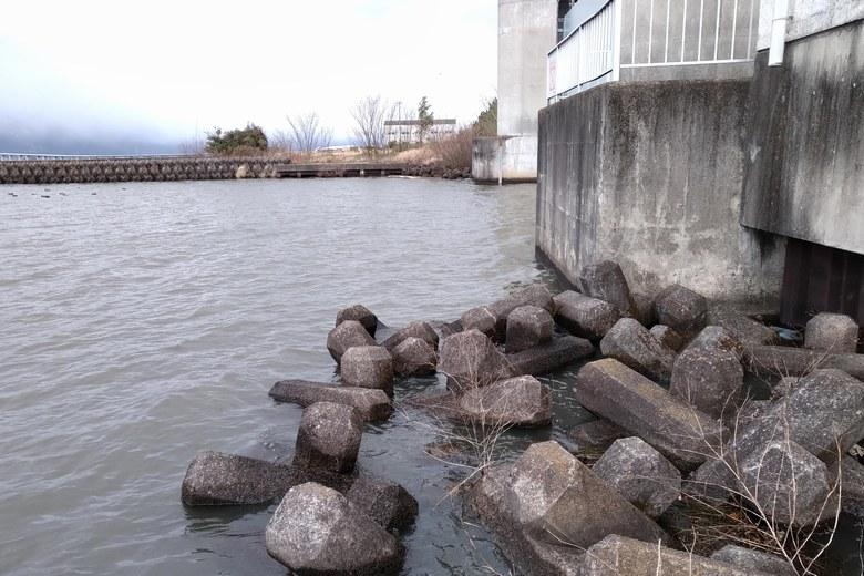 木浜3号水門の入り口