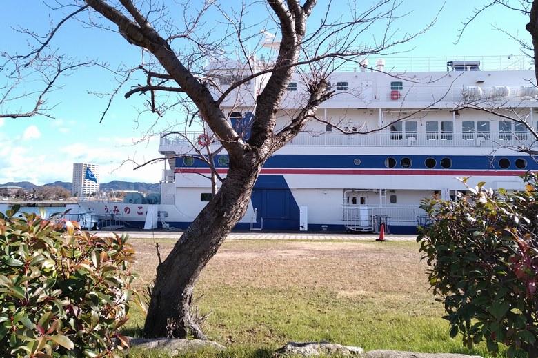 長浜港の北側の船着き場