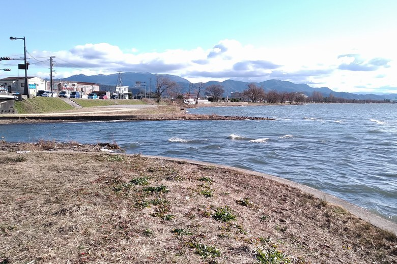 琵琶湖に流れ込む、長浜新川