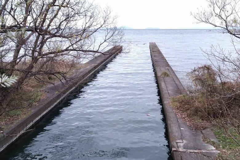 大井川の河口の様子